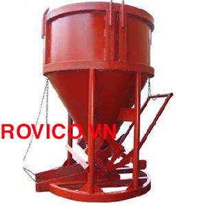 Bán phễu đổ bê tông 0.6m3 Rồng Việt rẻ